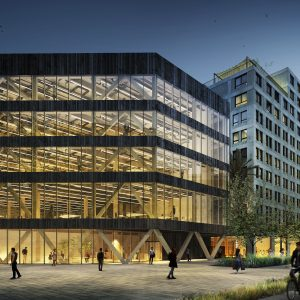 Hines and Henderson Park start timber Barcelona office